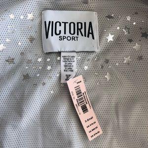 Victoria's Secret Jackets & Coats - NWT Victoria Secret's Foil Silver Metallic Bomber